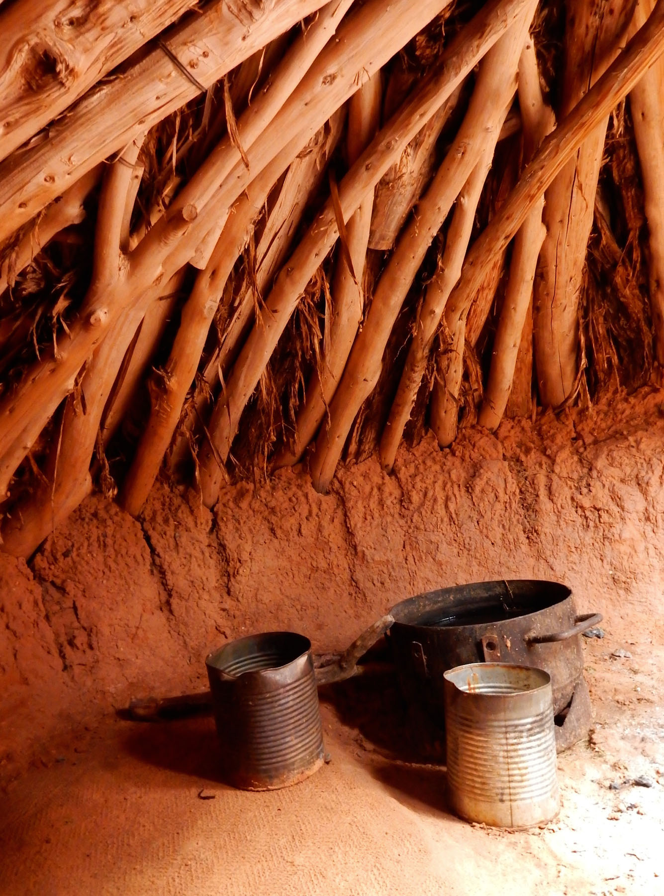 Photo: Lisa McCann. Title: Inside a Navajo sweat lodge